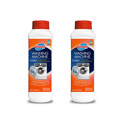Glisten Washer Magic Machine Cleaner, Remove Odors and Buildup, Cleans Front Load & Top Load Washers, Safer Choice Winner, Pack of 2, 24 Ounce