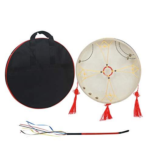 Fariy Batería De Chamán,Instrumento de percusión chino tradicional con marco de tambor de chamán