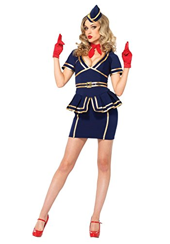 Friendly Skies Flight Attendant Adult Costume - Medium