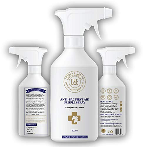 C&G Pets Horse Anti Bacterial Anti fungal Antiviral Purple Wound Spray 500 ML