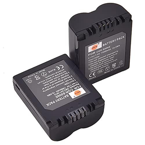 DSTE アクセサリ CGR-S006E 互換 カメラ バッテリー 2個 対応機種 CGA-S006,DMW-BMA7,Panasonic DMC-FZ28EFK,DMC-FZ28EFS,DMC-FZ18EB,DMC-FZ18EG,DMC-FZ18EGS