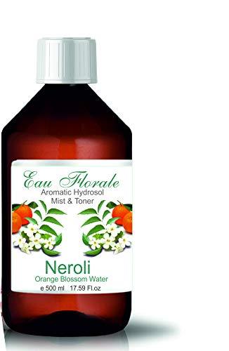 Biologische Hydrolat Oranjebloesem Neroli 500 ml I 17,60 Fl oz Bloemenwater 100% puur