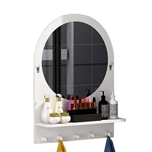 WPW Wandspiegel Mirror Schminkspiegel GroB Badezimmerspiegel mit Lagerung Wandmontage Oder Freistehend für Toilette, Toilette, Gästetoilette, Bad