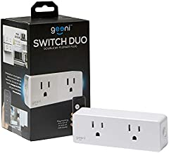 Geeni Switch Duo Double Smart Plug, White, 2 Outlets – No Hub Works with Amazon Alexa and Google Assistant, Requires 2.4 GHz Wi-Fi