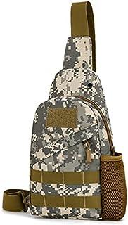 HALAMODO Mens Shoulder Crossbody USB Chest Bag Classic Sling Slim Backpack Shoulder Bags Diagonal Package Multipurpose Day...