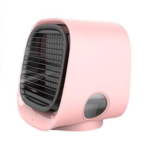 Fenteer Refrigerador De Aire Portátil Escritorio Interior Refrigeración Aire Acondicionado Humidificador Nuevo - Rosa