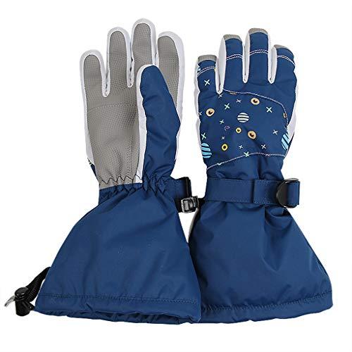 Ami/&Li tots Guanti impermeabili per bambini e ragazze e ragazzi invernali da sci caldi guanti da neve per bambini con polsini regolabili