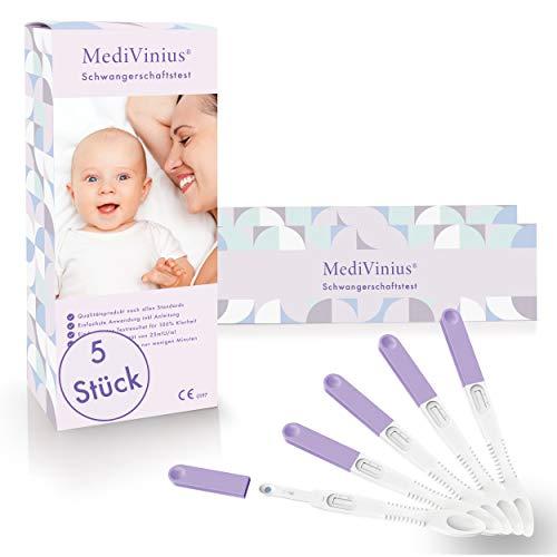 MediVinius® - Schwangerschaftstest - mit sicherem Ergebnis [99,99%] - Pregnancy tests für 100% Klarheit (5)
