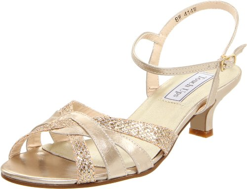 Touch Ups Women's Jane Ankle-Strap Sandal,Champagne Glitter,7 M US