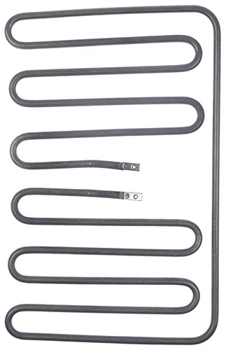 Cookmax radiator voor contactgrill 2000W 220V lengte 240mm breedte 383mm 2 verwarmingscircuits hoogte 33mm aansluiting M4 EP onderaan