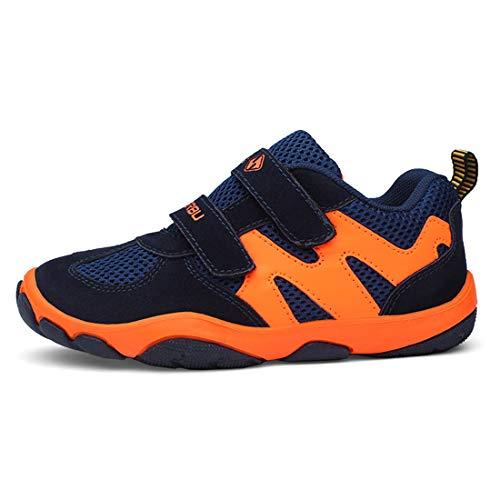 FIHUGKE Kinder Schuhe Sportschuhe Ultraleicht Atmungsaktiv Turnschuhe Klettverschluss Low-Top Sneakers Laufen Schuhe Laufschuhe für Mädchen Jungen 39