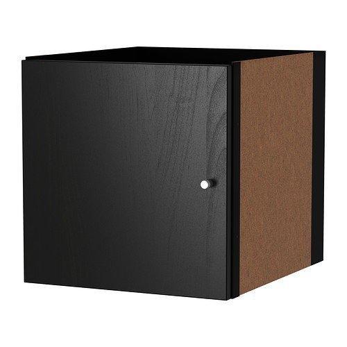 IKEA KALLAX l impiego con porta Nero Marrone; (33 x 33 cm); Compatibile con EXPEDIT
