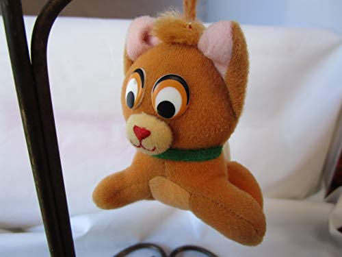 Vintage 1988 Oliver the Cat plush ornament 4' Tall 32 years old disney