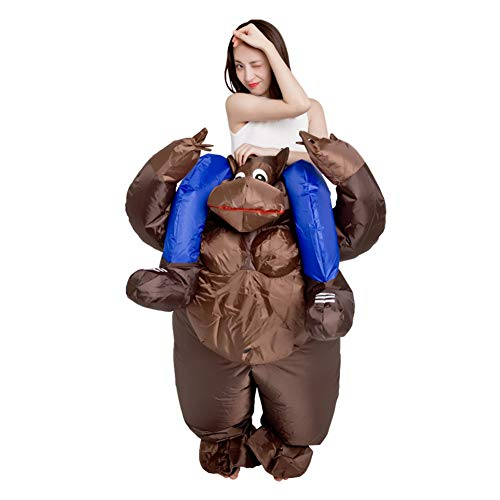 LINAG Unisex Aufblasbares Kostüm für Erwachsene Karneval Halloween Kostüm, Lustige Kostüme Aufblasbare Orang-Utan Kleidung für Kostüm Anzug Party Geschenk,A,OneSize