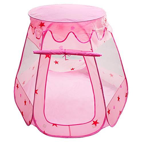 MAIKEHIGH Palla Portatili Tende Pieghevole Casette per Bambini Esagonale Fairy Princess Gioco Tenda Pit Interni Esterni Bambini Castello Cubby Playhouse (Palline Non Incluse)
