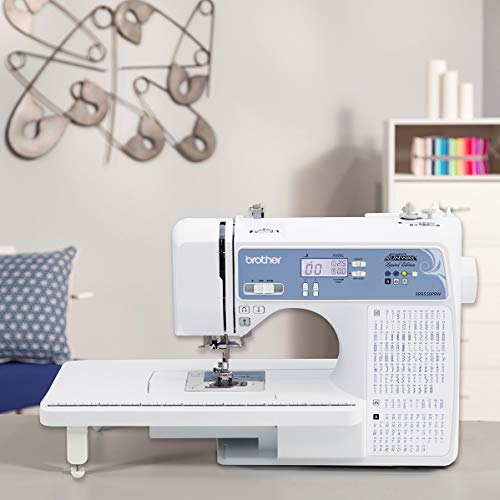 Brother XR9550PRW Sewing and Quilting Machine, Project Runway, 165 Built-in Stitches, LCD Display, Wide Table, 8 Included Feet