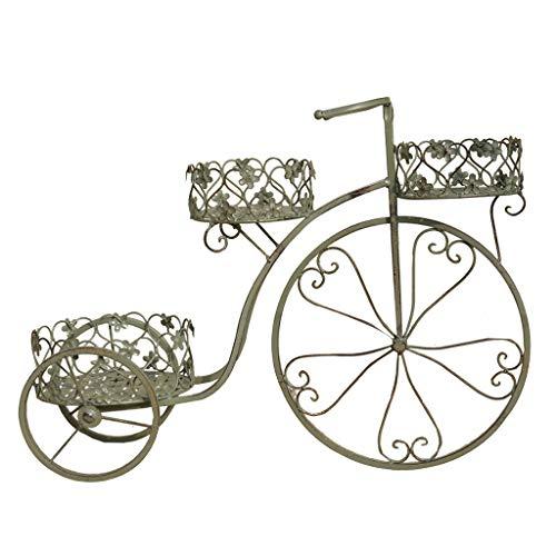 HSWYJJPFB Maceteros Decorativos Interior Soporte Macetas Soporte De Flor De Hierro Forjado Retro Forma De Bicicleta Balcón Soporte De Planta Estante De Exhibición De Flores