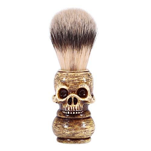 Delaman Brocha de Afeitar, Brocha para Cabeza de Cráneo, Herramienta de Aseo para Hombres, Brocha de Afeitar Barber Salon