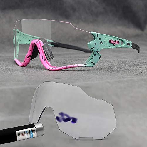 Gafas de Montar Transparentes, Gafas de Sol de Ciclismo, Gafas de Motocicleta con Protección UV para Hombres, Mujeres, Deportes Al Aire Libre, Viajes,08
