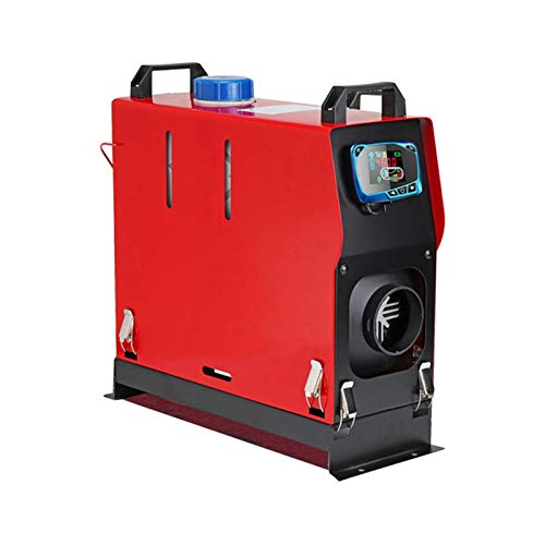 iBaste Calentador de aire diésel de estacionamiento, 5000 W, 5 kW, motor de autobús y camión, interruptor de llave LCD y silenciador