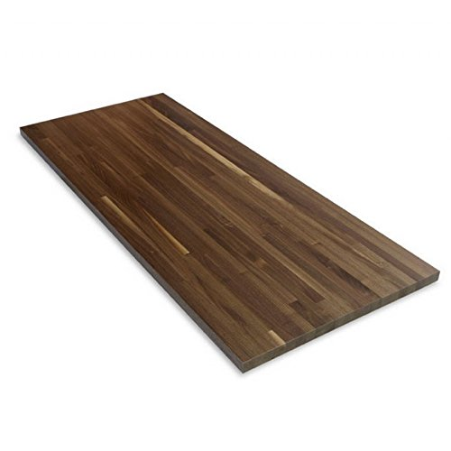"Wood Welded 120"" x 25"" x 1-1/2"" Walnut Counter Top 