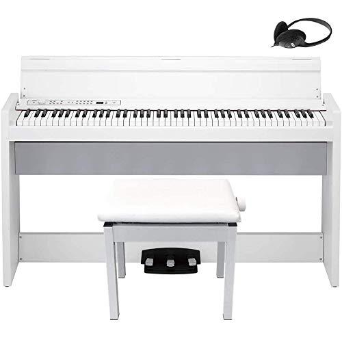 KORG LP-380-WH U Electronic Piano 88 Keys White High Low Flexible Chair Set