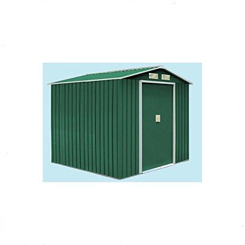 Maison en métal 2 portes Vert foncé 340 x 319 x 210