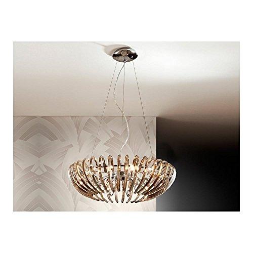 Schuller Spain 876124I4L Modern Champagne Open Oval Ceiling Hanger LED Ceiling Light Living Room 12 Light Dining Room, Living Room, Bedroom LED | ideas4Lighting