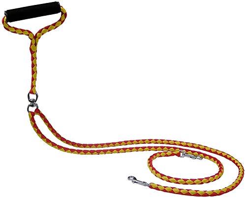 Pet Parade Hundeleine mit Drehgelenk, Nicht verheddert, für 2 Hunde mit einem Gewicht von bis zu 200 kg
