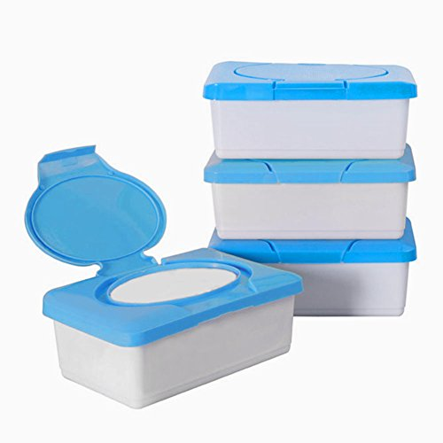 Ainstsk - Caja Portátil de Pañuelos Húmedos, Caja de Pañales de plástico