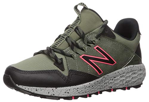 New Balance Women's Crag V1 Fresh Foam Trail Running Shoe, Faded rosin/Black/Guava, 8.5 B US