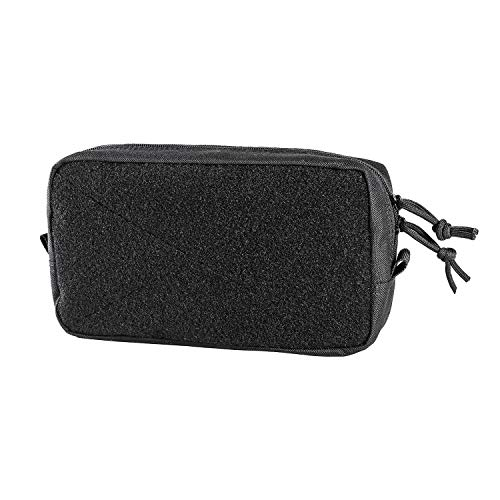 OneTigris Horizontal Multi-Purpose Pouch with Front Loop Surface and Hook-Backed Webbing (Black)
