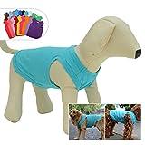 longlongpet 2019 - Disfraz de Perro, Camiseta para Perros Grandes y medianos, 100% algodón, Chaleco clásico para Cachorros y Perros, 18 Colores Turquesa Turquesa Medium