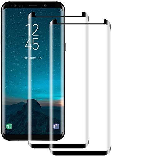 NUOCHENG [2 stück Panzerglas Schutzfolie für Samsung Galaxy S9 Plus/S9+, Volle Bedeckung Panzerglasfolie, Anti- Kratzer, 9H Härte, HD-Klar Displayschutzfolie für Samsung Galaxy S9 Plus/S9+