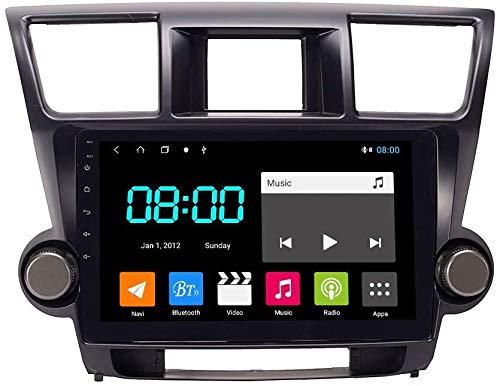 MAG.AL Android 9.1 Radio automático Estéreo GPS Navegación anfitrión para Toyota Highlander 2009-2014 SAT NAV OCTA Core IPS Pantalla táctil Admite SWC RDS Player Multimedia Player Video Receptor