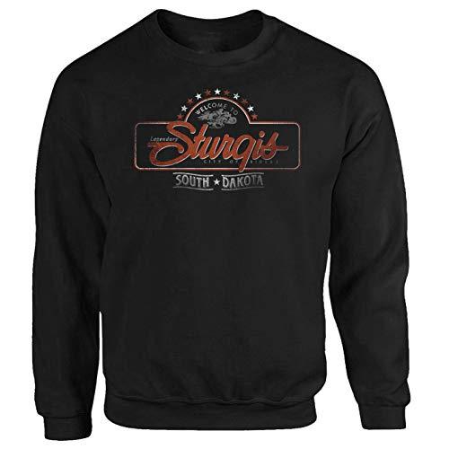 Tex-Ha Sturgis USA motorfiets chopper motorcycle zwart trui sweatshirt