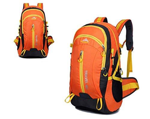 Nouveau voyage sac à dos Sacs bandoulière plein air sacs 40L alpinisme imperméable à l'eau , yellow