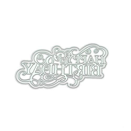 WuLi77 Geburtstag DIY Metall Stanzschablone Die Stanzen Zum Basteln Von Karten, Prägeschablone Für Scrapbooking, DIY Album, Papier, Karten, Kunst, Dekoration