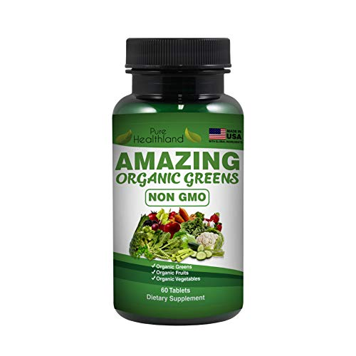 GMO-VRIJE GEWELDIGE BIOLOGISCHE Superfood met groenten supplement tabletten. 29 biologische groenten en fruit voor een gezonde voeding, vitaliteit en een betere spijsvertering. Gemaakt in de VS