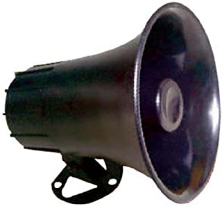 "All-Weather Mono Trumpet Horn Speaker - 5"" Portable PA Speaker with 8 Ohms Impedance & 25 Watts Peak Power - 180 Degree Swiveling Adjustable Bracket for Easy Maneuverability - Pyle PSP8"