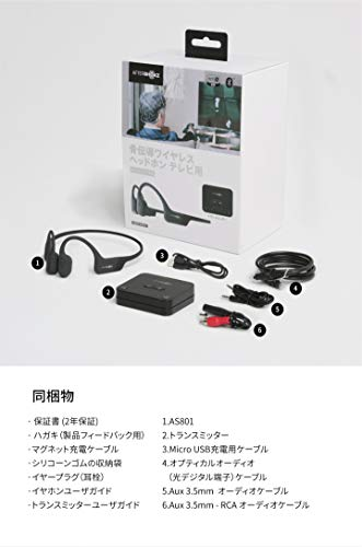 41ddHZ00TQL-Aftershokzのテレビ用 骨伝導ワイヤレスヘッドホン(AS801)をレビュー!TVでもPCでもすぐ使えて便利