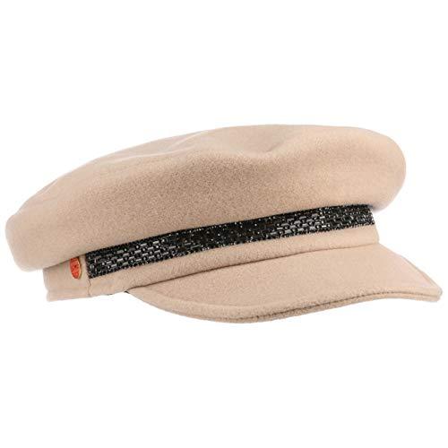Mayser Kendy Damen Ballonmütze Newsboy Cap Wollcap Damencap Damenmütze Elbseglermütze (M (57-58 cm) - Hellbeige)