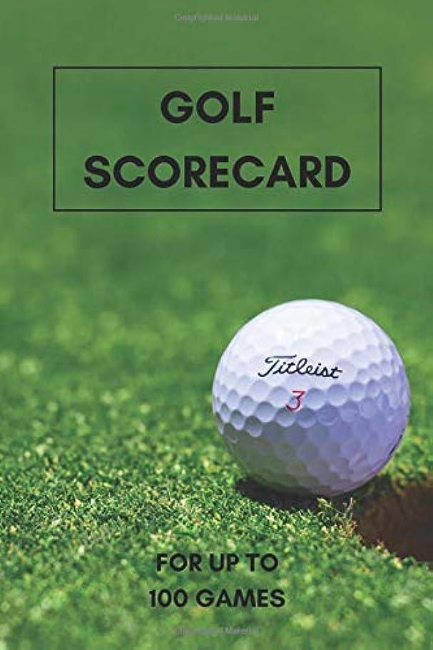 一人でわずらわしい送るGolf Scorecard: 6x9 Track up to 100 Matches and Games: Everything important in one place! Your Golf Buddy and Log book for scores and stats