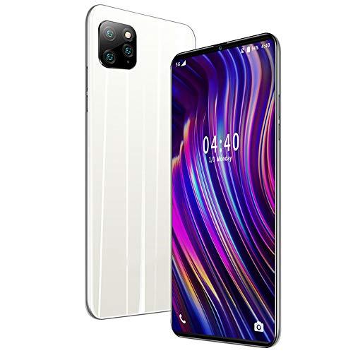 Moviles Libres 3G 6.1 Pulgadas Android 9.0 Tres Cámaras Traseras 8MP Cámara Frontal 5MP 1GB RAM 18GB ROM /128GB Memoria Expandida Telefono movil 4800mAh Móviles y Smartphone Libres,White