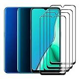 HYMY 4 Pack Cristal Vidrio Templado para OPPO A9 2020 - Transparente Protector de Pantalla Película Protectora Protector Anti-Scratch Anti-Sucio HD Screen Protection