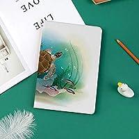 軽量版 iPad Pro 11 ケース 極薄軽量 2つ折りスタンド 磁気吸着式 オートスリープ機能 傷つけ防止 手帳型 2018秋発売のiPad Pro 11に対応 スマートカバーウミガメが海で泳ぐ熱帯の水中世界水族館イラスト印刷
