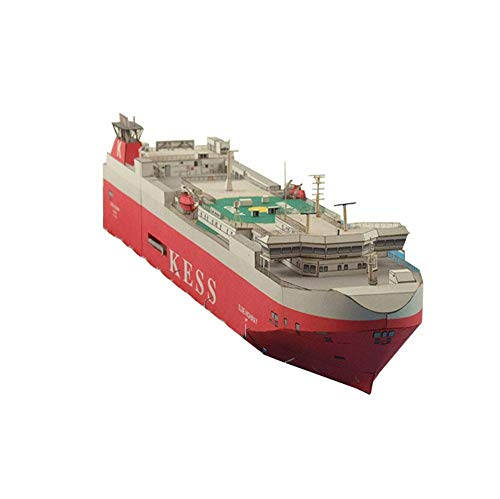 DFJU Juguetes Modelo de Rompecabezas de Papel Militar, Escala 1/400 Elbe Highway Ro-Ro Ship Juguetes y Regalos para niños, 14,6 x 2,5 Pulgadas