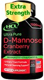 D-Mannose with Cranberry Extract Capsules 1500mg Super Strength Pills – Fast-Acting UTI Urinary Tract Infection Prevention – Bladder Health Supplement