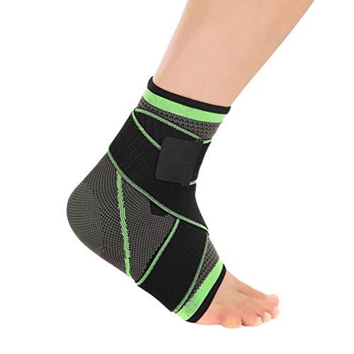 ABOOFAN Tobillera ajustable presurizada para el tobillo y tobillo para la prevención de esguinces, talla XL
