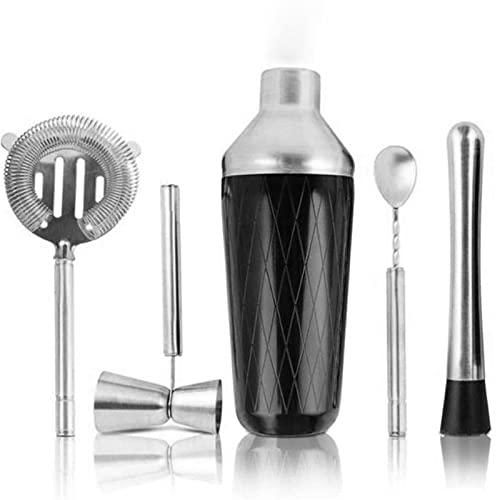 LMX Sistema de coctelera, Utilizado en la Barra Home Beber Shaker Tools: Shaker, Blender, Filter, Mezcling Cuchara, Blender (Color : Silver)